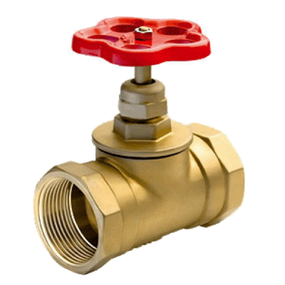 Клапан 51 мм, латунь (прямой) 15Б3р (муфта-муфта)
