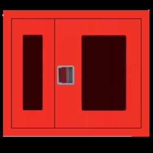 Шкаф пожарный ШПК 315 ВОК встроенный, открытый, красный