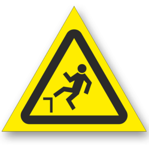 Знак - Осторожно. Возможность падения с высоты W15