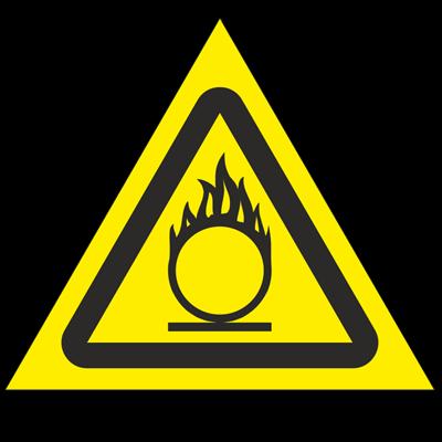 Знак - Пожароопасно. Окислитель W11