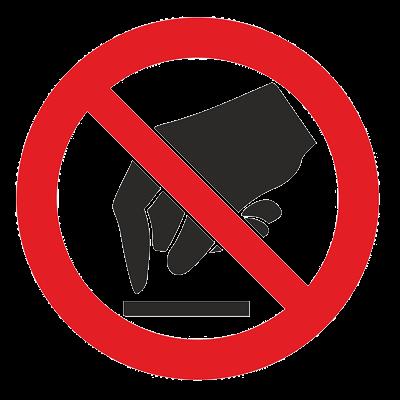 Знак - Запрещается прикасаться. Опасно Р-08
