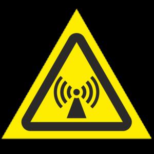 Знак - Внимание. Электромагнитное поле W12