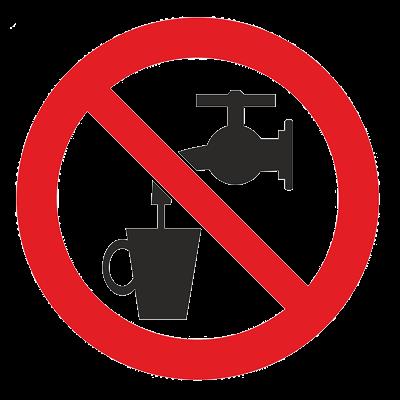 Знак - Запрещается использовать в качестве питьевой воды Р-05