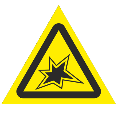Знак - Осторожно. Сварка W35